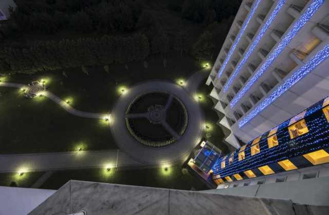 Вид с балкона, территория отеля Риксос