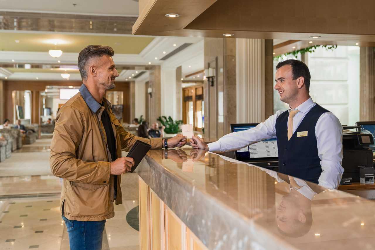 Registration at the hotel Rixos