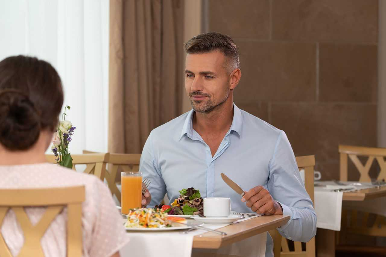 Сніданок у готелі Ріксос
